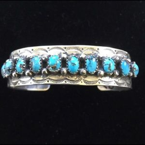 Jewelry - Sterling and turquoise cuff